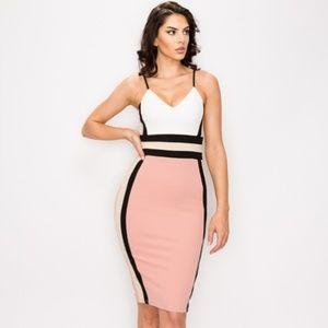 Dresses & Skirts - Karen Color Block Midi Dress- Mauve
